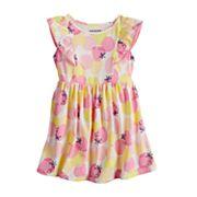 Toddler Girl Jumping Beans® Pom Trim Printed Flutter Dress