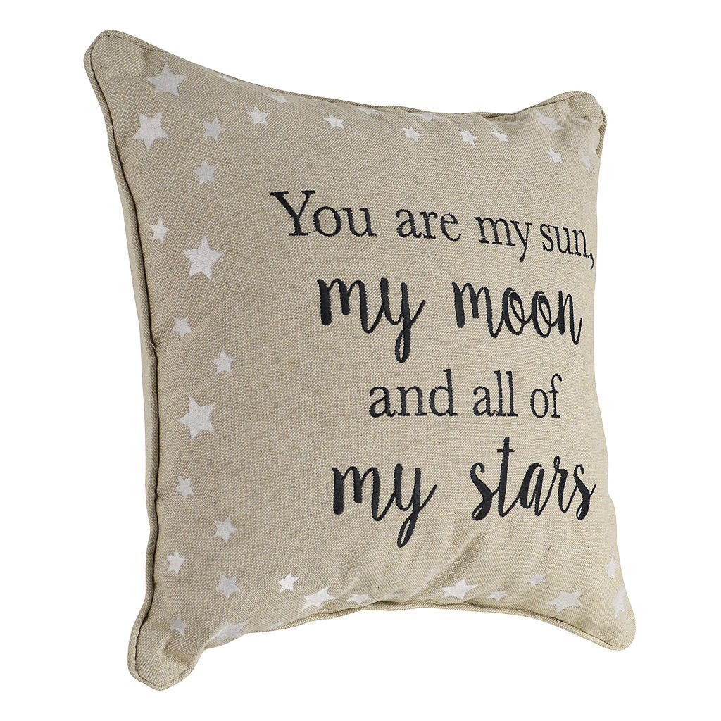 ''You are my Sun, my Moon and all of my Stars'' Throw Pillow
