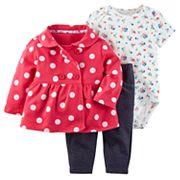 Baby Girl 3 pc Jacket, Bodysuit & Pants Set
