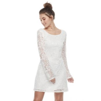 Juniors' Liberty Love Lace A-Line Dress