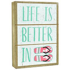 Belle Maison 'Life Is Better' Flip Flops Box Sign Art