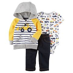 Baby Boy Carter's 3 pc Truck Jacket, Bodysuit, & Pants Set