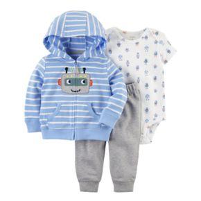 Baby Boy Carter's 3-pc. Robot Jacket, Bodysuit, & Pants Set