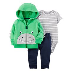 Baby Boy Carter's 3 pc Dinosaur Jacket, Bodysuit, & Pants Set