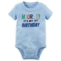 Baby Boy 'Hooray! It's My 1st Birthday' Graphic Bodysuit