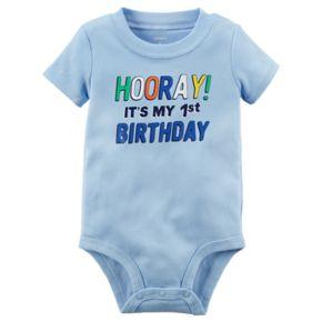 """Baby Boy """"Hooray! It's My 1st Birthday"""" Graphic Bodysuit"""