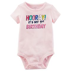 Baby Girl 'Hooray! It's My 1st Birthday' Graphic Bodysuit