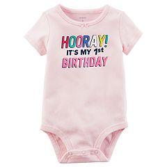 Baby Girl 'Hooray! It's My 1st Birthday' Graphic Bodysuit