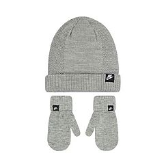 Toddler Boy Nike Gray Beanie & Mittens Set