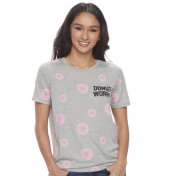 "Juniors' ""Donut Worry"" Graphic Tee"