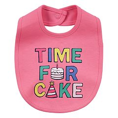 Baby Girl Carter's 'Time For Cake' Graphic Bib