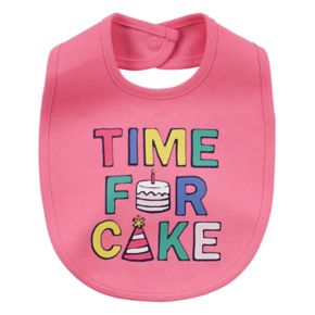 """Baby Girl Carter's """"Time For Cake"""" Graphic Bib"""