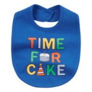 "Baby Boy Carter's ""Time For Cake"" Graphic Bib"