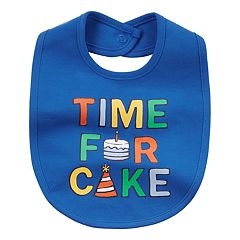 Baby Boy Carter's 'Time For Cake' Graphic Bib