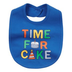 """Baby Boy Carter's """"Time For Cake"""" Graphic Bib"""