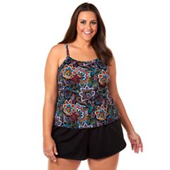 Plus Size Croft & Barrow® Hip Minimizer Paisley Romper