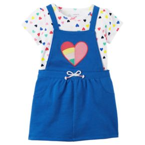 Baby Girl Carter's Blue Heart Jumper & Bodysuit Set