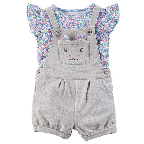 Baby Girl Carter's Mouse Jumper & Tee Set