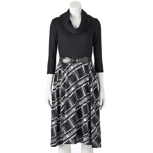 Women's Bethany Cowlneck Fit & Flare Dress
