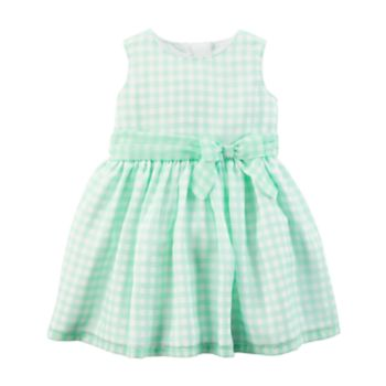 Baby Girl Carter's Gingham Bow Dress