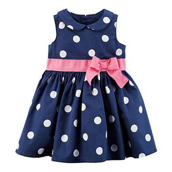 Baby Girl Carter's Peter Pan Color Polka-Dot Dress