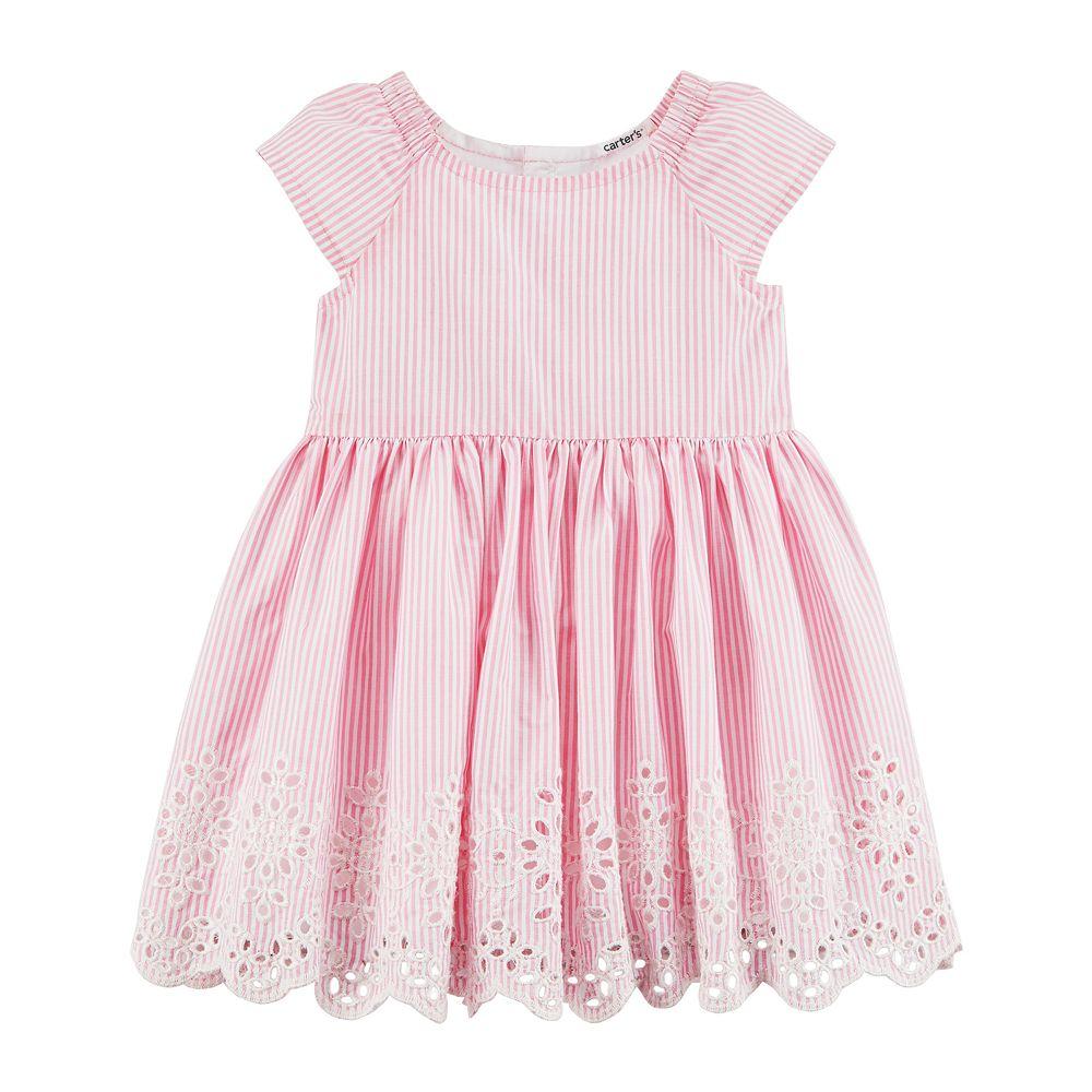 Baby Girl Carter\'s Pinstripe Dress & Bloomers Set