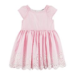 Baby Girl Carter's Pinstripe Dress & Bloomers Set