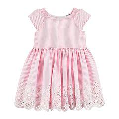 Baby Girl Carter's Pinstripe Dress & Bloomers Set