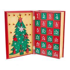 Kurt Adler Advent Calendar Christmas Table Decor