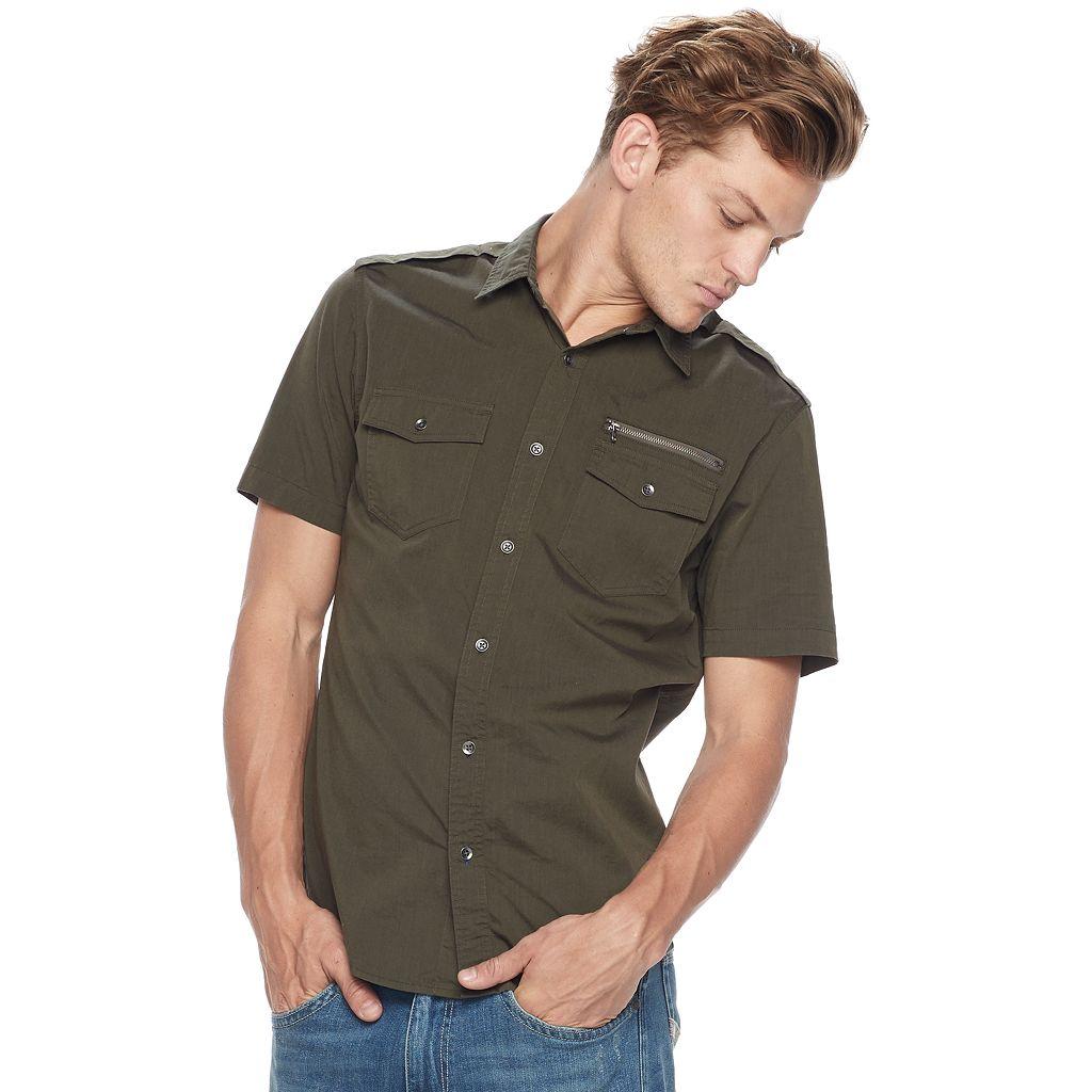Big & Tall Rock & Republic Stretch Woven Button-Down Shirt