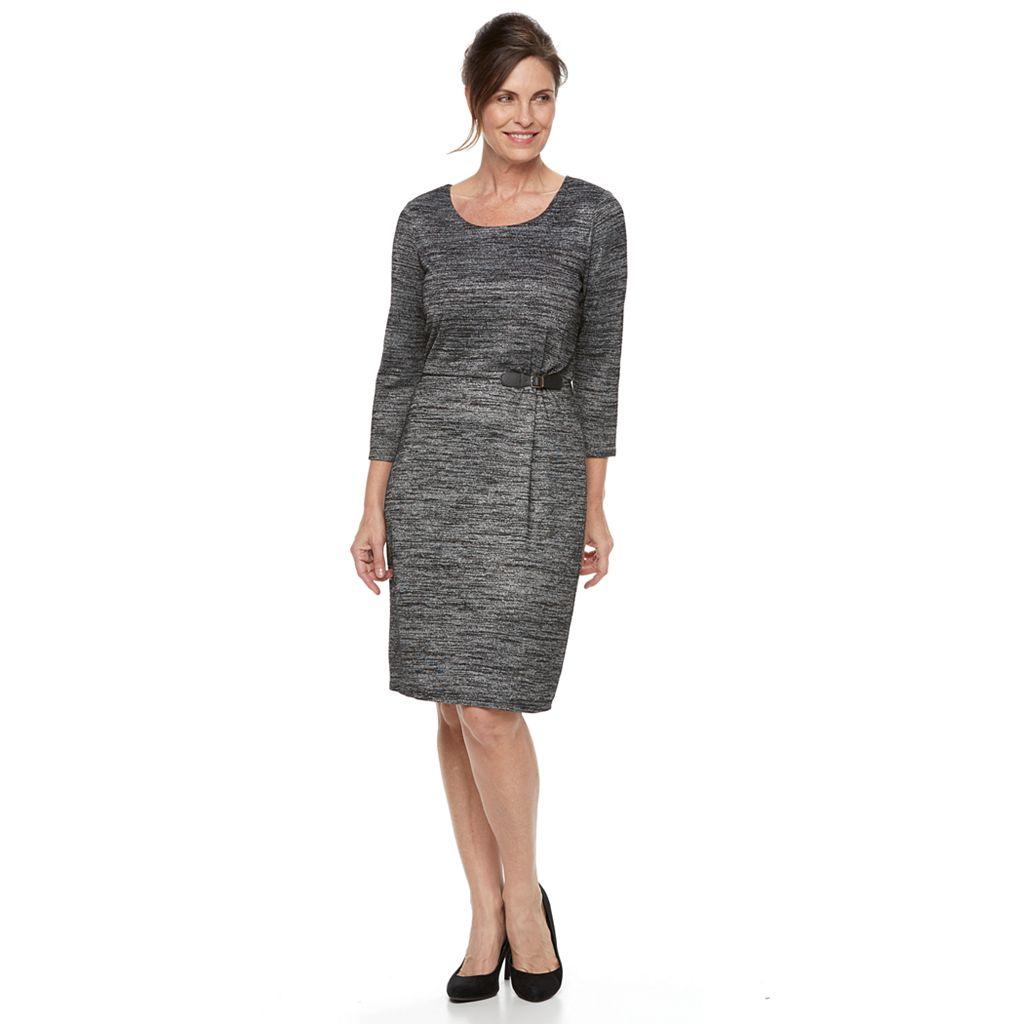 Women's Dana Buchman Marled Side Buckle Dress