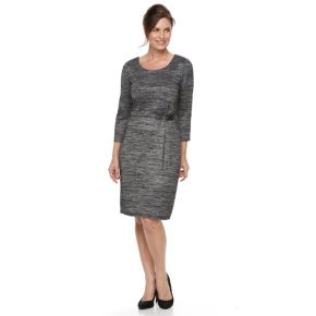 Women's Dana Buchman Marled Side Buckle Dress