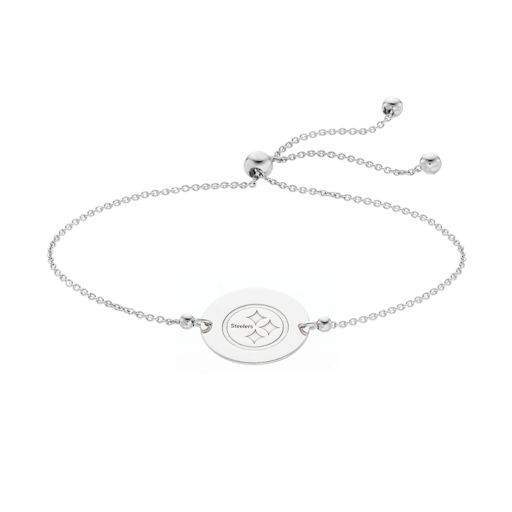 Sterling Silver Pittsburgh Steelers Bolo Bracelet