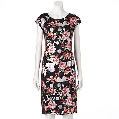 Women's Indication Floral Scuba Sheath Dress