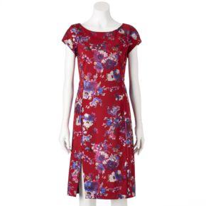Women's Indication Floral Scuba Sheath Dress