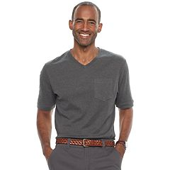 Men's Croft & Barrow® V-Neck Interlock Performance Tee