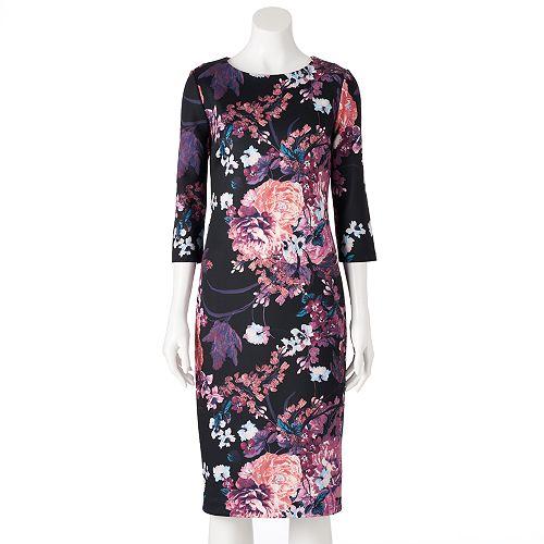 Women's Indication Scuba Sheath Dress