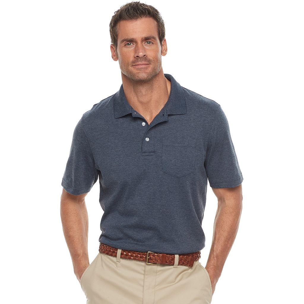 Men's Croft & Barrow® Classic-Fit Easy-Care Interlock Pocket Polo