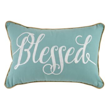 ''Blessed'' Oblong Throw Pillow