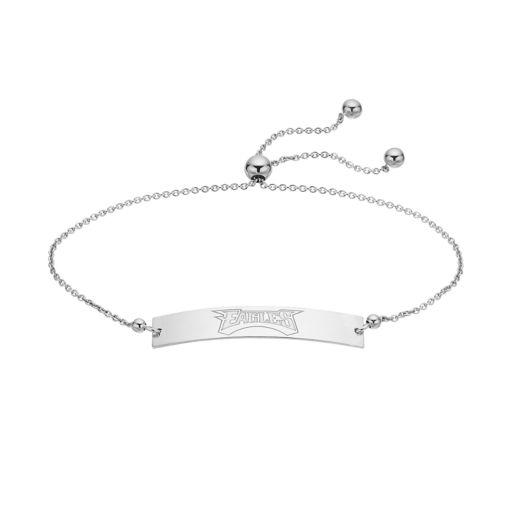 Sterling Silver Philadelphia Eagles Bolo Bar Bracelet