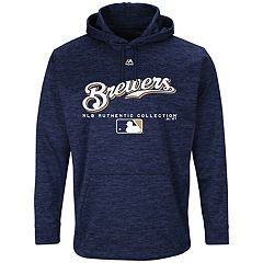 Men's Majestic Milwaukee Brewers Authentic Collection Hoodie