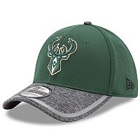 Adult New Era Milwaukee Bucks 39THIRTY Training Flex-Fit Cap