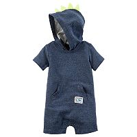 Baby Boy Carter's Dinosaur Spikes Hooded Romper