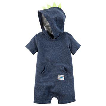 Baby Boy Carter's Dinosaur Spikes Hooded Romper