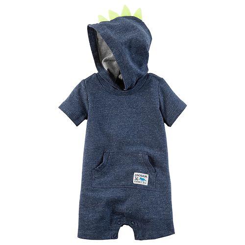 2a8c55214 Baby Boy Carter's Dinosaur Spikes Hooded Romper