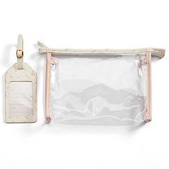 LC Lauren Conrad Paris Travel Pouch & Luggage Tag Set