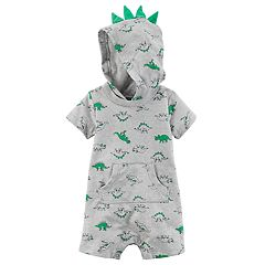 Baby Boy Carter's Dinosaur 3D Spikes Hooded Romper
