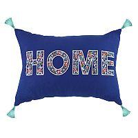 ''Home'' Tassels Oblong Throw Pillow