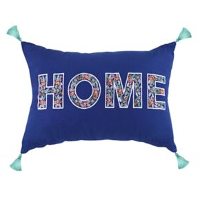 ''Home'' Tassels Oblong Throw Pillow