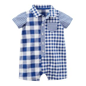 Baby Boy Carter's Plaid Buttoned Romper
